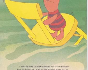 "Vintage Disney Print, Winnie the Pooh Childrens Art, Nursery Art, 11.25"" x 8.5"" or Matted to 11"" x 14"""