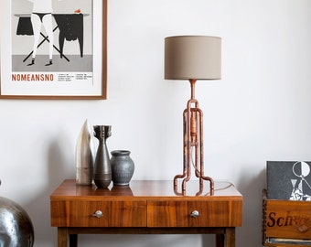TRUMPETO Copper Table Lamp BURNED COPPER finish