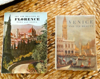 1958 Vintage Tourist  Pocket Travel  Guide Books to Italy