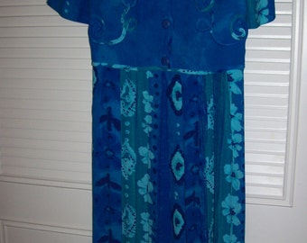 Carole Little long maxi  dress, bright and perfect. Size 6 REDUCED