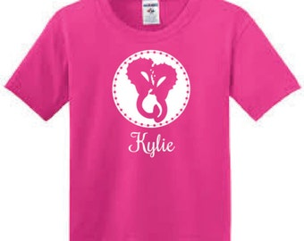 Seahorses Personalized T-Shirt for Girl - Youth Seahorse Short-sleeve Tee