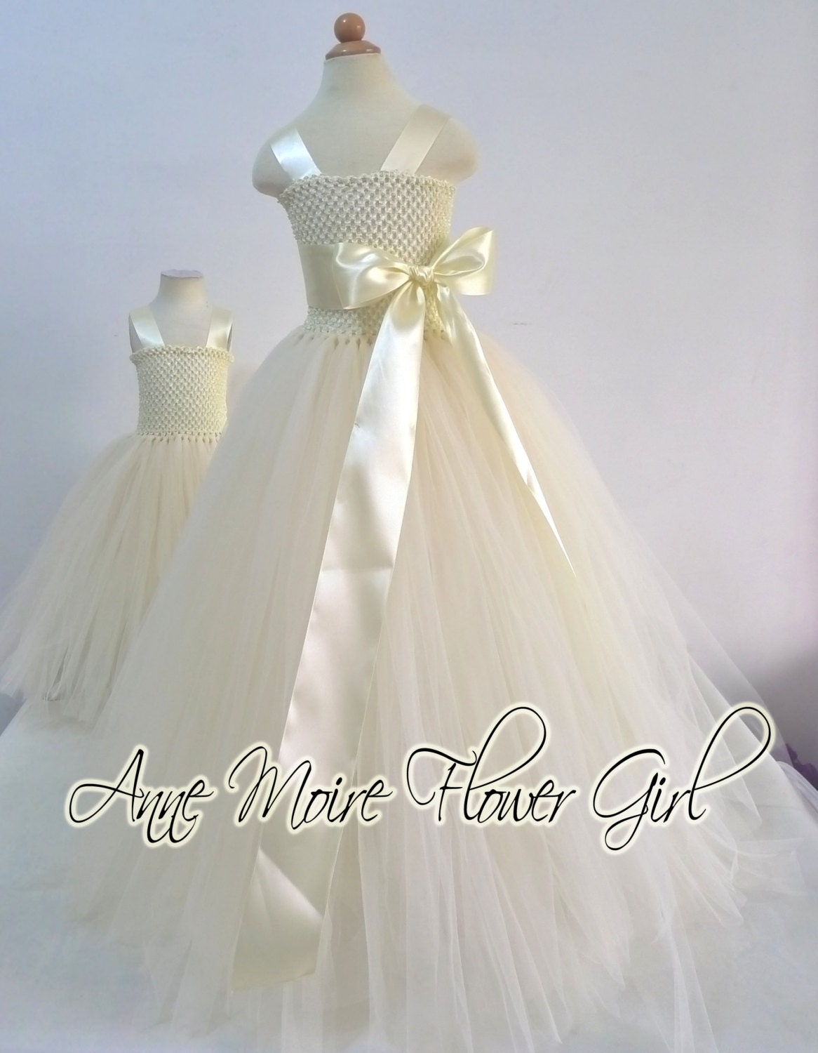 Tutu Flower Girl Dresses Ivory Flower Girl Tutu by