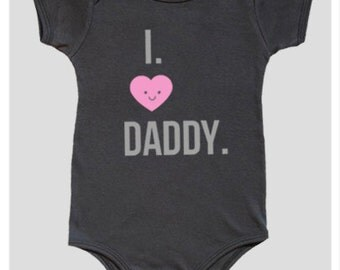 Baby Girl Onesie, Girl Bodysuit, I love Daddy, Baby girl Onesie, Baby girl bodysuit, Baby GIRL onesie, Baby Girl