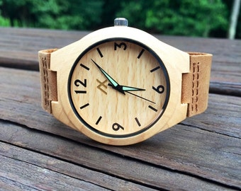 Engraved Wood Watch, Wooden Watch, Minimalist Watch, Wood Watch, Personalized Watch, Gift for Him, Wedding Gift, Anniversary Gift, Groomsmen