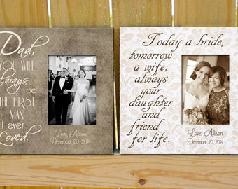 father and mother of the bride gifts picture frames wedding frames for parents - Wedding Picture Frames