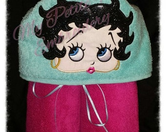 Betty Boop Hooded towel
