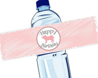 Printable Water Bottle Labels - Charlotte's Web Birthday Party