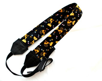 Cat themed DSLR Camera Strap! This is a full strap not a cover! Standard Size