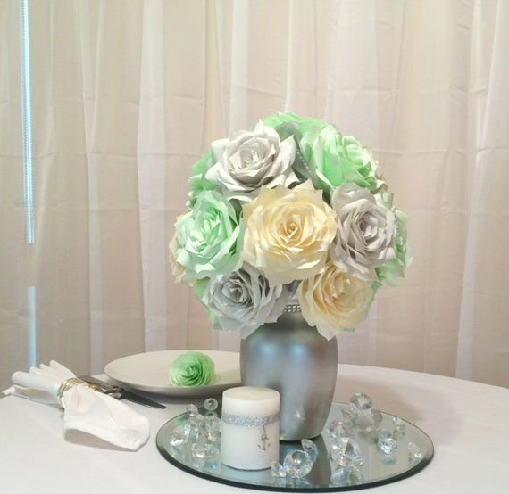 mint green wedding decorations mint green silver and ivory table centerpieces mint by 5954