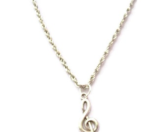 Treble Clef Necklace Music Necklace Music Note Necklace Music Gift Treble Clef Jewelry  Musicians Gifts Music Note Jewelry Music Jewelry