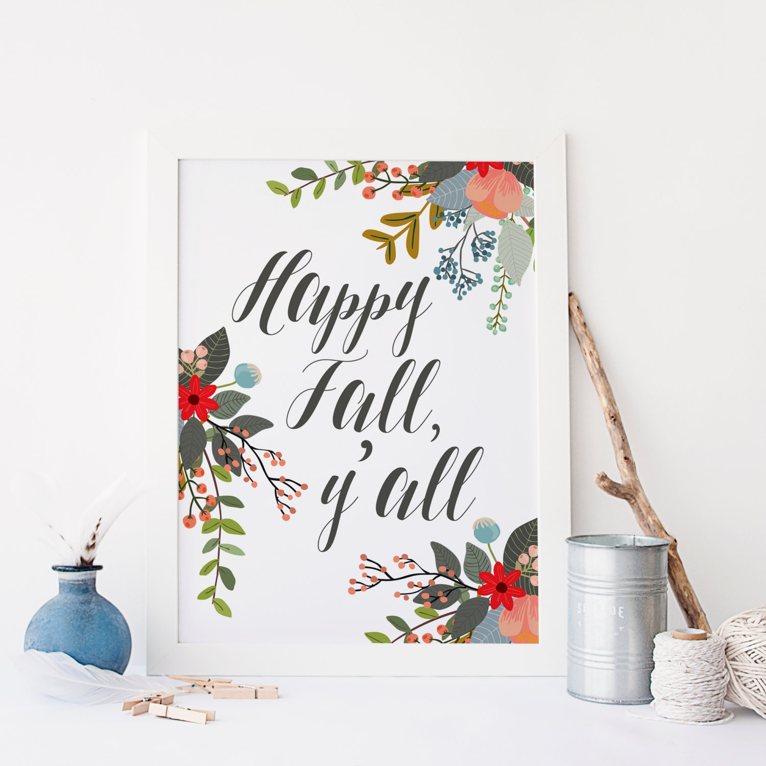 This is a photo of Universal Happy Fall Yall Printable