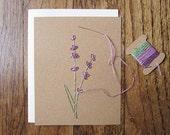 Lavender floral cards DIY embroidery kit