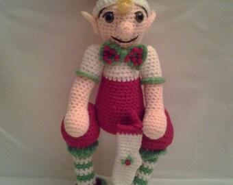 ELFIE the Elf = Crochet Amigurumi - Crochet Christmas Elf - Handmade Crochet Amigurumi