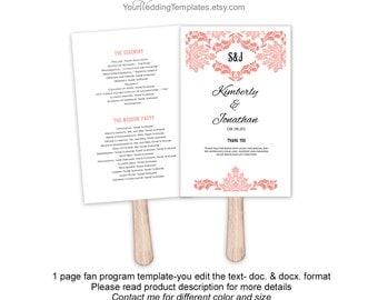 Items Similar To DIY Printable Heart Shaped Wedding Fans