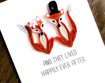 Wedding Congratulations Card - Happily Ever After Card