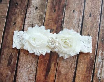 Ivory Bride Garter, Lace Wedding Garter, Pearl Garter, Keepsake, Fairytale Wedding, Throw Garter, Leg Garter, Custom Garter