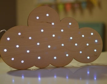 Kid's Cloud Marquee Night Light