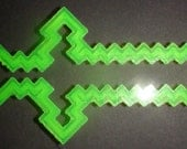 3-D Printed Minecraft Sword Cookie Cutter