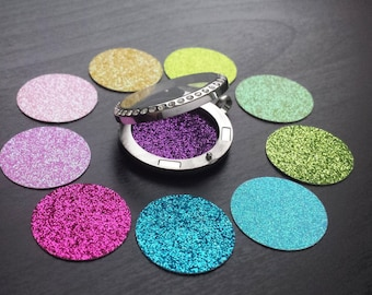 Window Insert for Floating Lockets-Available in Medium & Large-Glitter Back Plate/Disc for Lockets-Gift Ideas