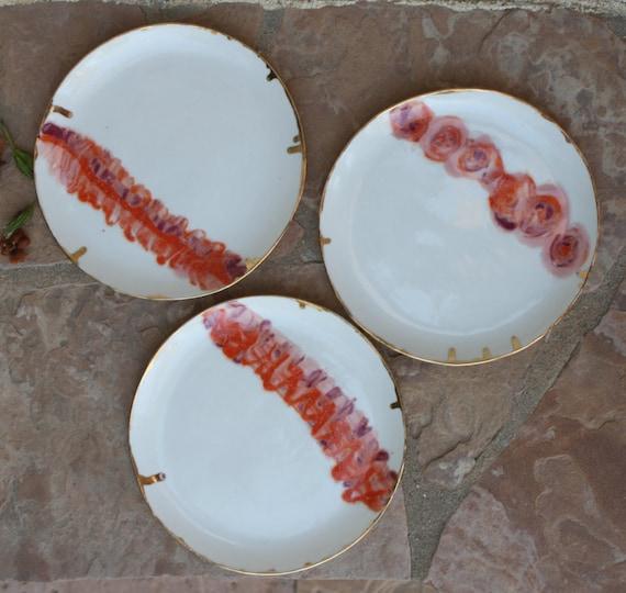 dinner plate set of 3 handmade ceramic by manuelamarinoceramic