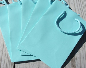 100 Pack - Turquoise Gift Favor Bags 6.25x3.5x8.5 Heavy-Weight Paper