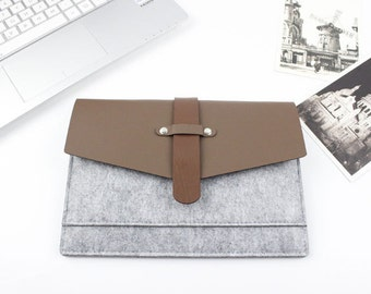 "Felt 11.6"", 13"", 15.4"" Laptop Case, Laptop Sleeve, Laptop sleeve 15.6, Laptop Sleeve 13.3, MacBook Case, MacBook Pro Case, Custom Size 13"