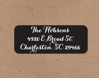 120 Address Return Labels Black and White 2.625 x 1
