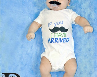 Newborn Take Home Outfit If you Mustache I Have Arrived Outfit Newborn Boy Outfit Baby Shower Gift Going Home Outfit Coming Home Outfit