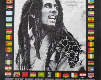 Rare Original 1979 Bob Marley Promo Poster for the Album 'Survival'