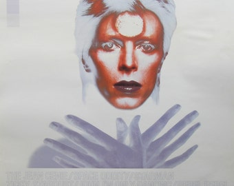 c1990 Original Promo Poster 'The Best of David Bowie 1969/1974'