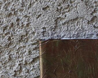 "Green/Brown Textured Artist Journal & Sketchbook, 4""x6"", 70lb Drawing Paper"