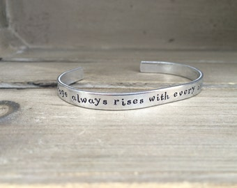 My Courage Always Rises / Jane Austen / Pride and Prejudice Bracelet / Literary Gift / Literary Bracelet / Book Lover Gift / Gift For Her
