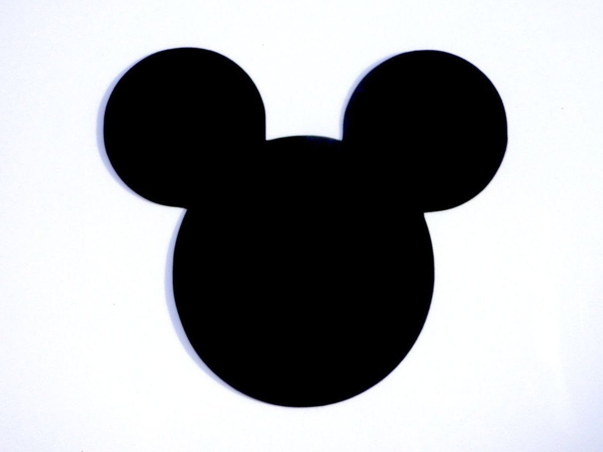 3 mickey mouse head ears die cut disneys mickey mouse. Black Bedroom Furniture Sets. Home Design Ideas