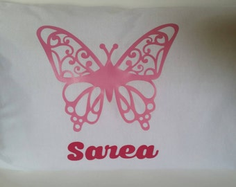 Personalized Toddler/Travel Pillowcase - Butterfly