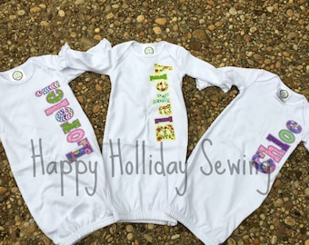 Monogrammed Coming Home-Baby Gown