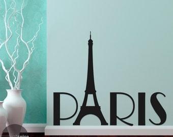 Paris France Eiffel Tower Europe Mural Vinyl Wall Decal Sticker