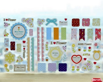 Floral Series A : I Love Flower Stickers