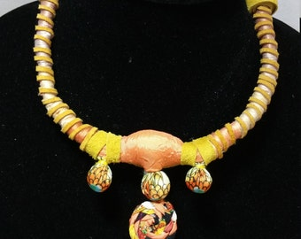 Yellow Ochre Collar-style Necklace