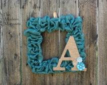 Monogram Jute Wrapped Wreath