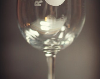 Runner 5 (Zombies, Run!) Hand Etched Wine Glass