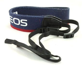 Canon EOS Blue/Red Original  Vintage Wide Camera Neck Strap