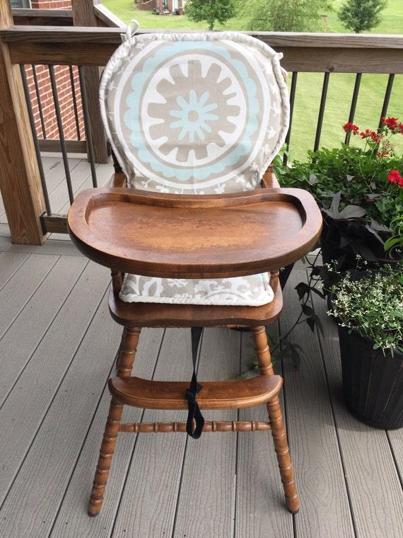 wooden highchair cushion pad cover high chair