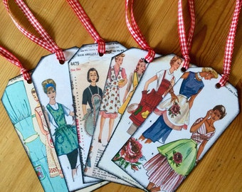 1940's HOUSEWIFE 'APRON' TAGS