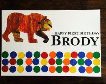 Brown Bear, Brown Bear Birthday Banner File