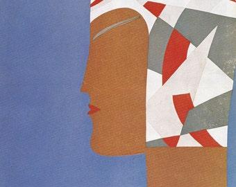 Vogue Magazine Cover 1929 art deco art nouveau home decor print fine art fashion vintage