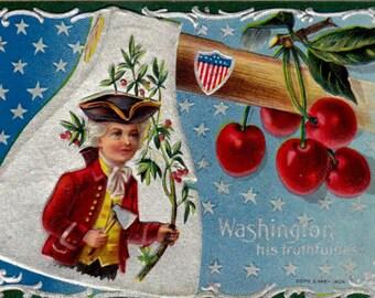 Winsch George Washington Patriotic 1908 Postcard