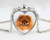 Pomeranian Pendant Necklace - Dog Breed Jewelry -  Presents for Mom - Great Gift Ideas for Dog Lovers