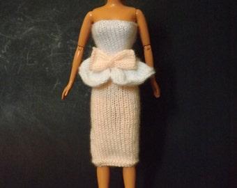 "Knit Barbie Clothes - Barbie Dress - Knit Dress for 11.5"" Barbie Doll"