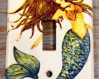 Brunett Mermaid light switch cover