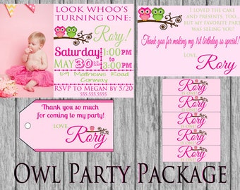 Owl Party Package
